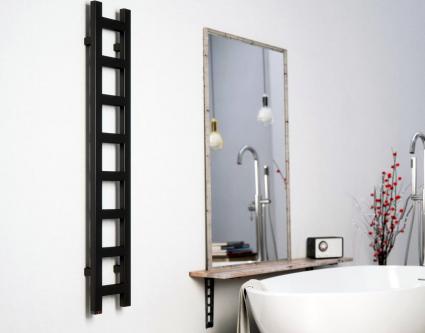Черный полотенцесушитель – изюминка вашей ванной комнаты