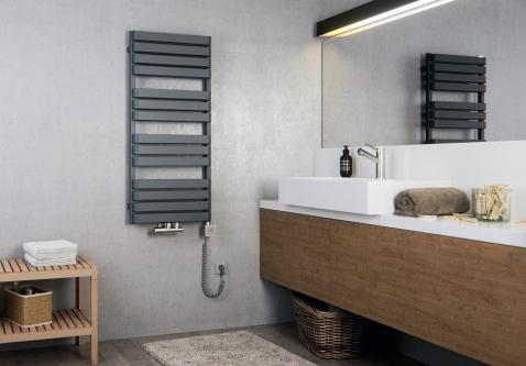 Современный дизайн полотенцесушителя электрического Terma Warp T