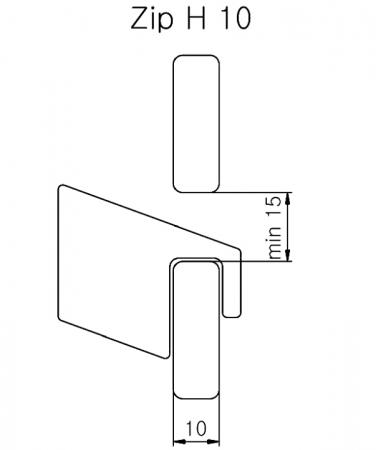 Изображение Крючок ZIP H №3
