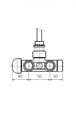 Изображение Вентиль интегрированый термостатический с трубкой угловой №3